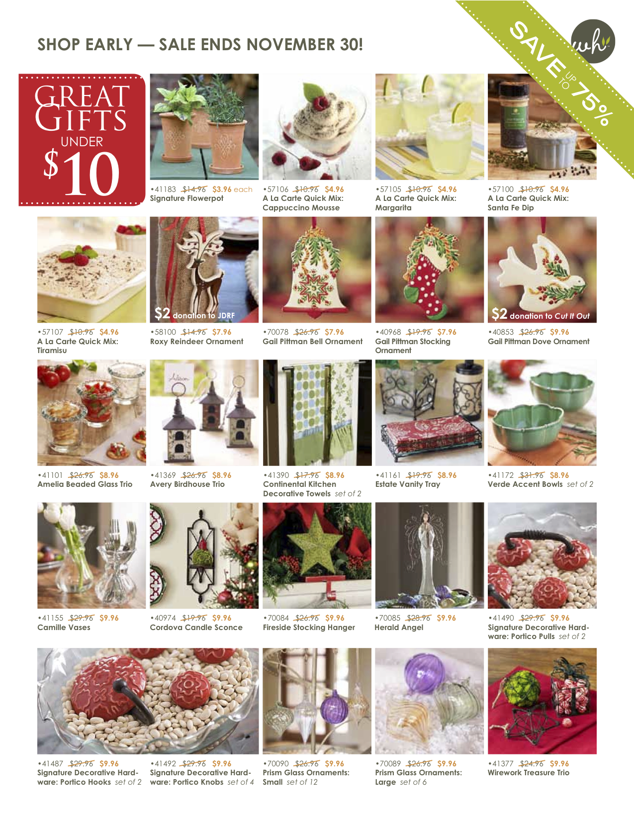 WH Christmas SALE gifts Under $10, $20, and $30! | Mama Goose Cuttin ...